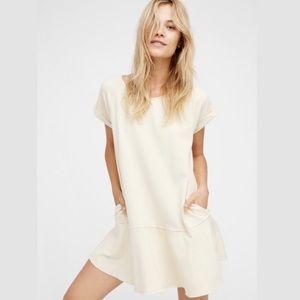 Free People |  Cream Too Cute Mini Dress